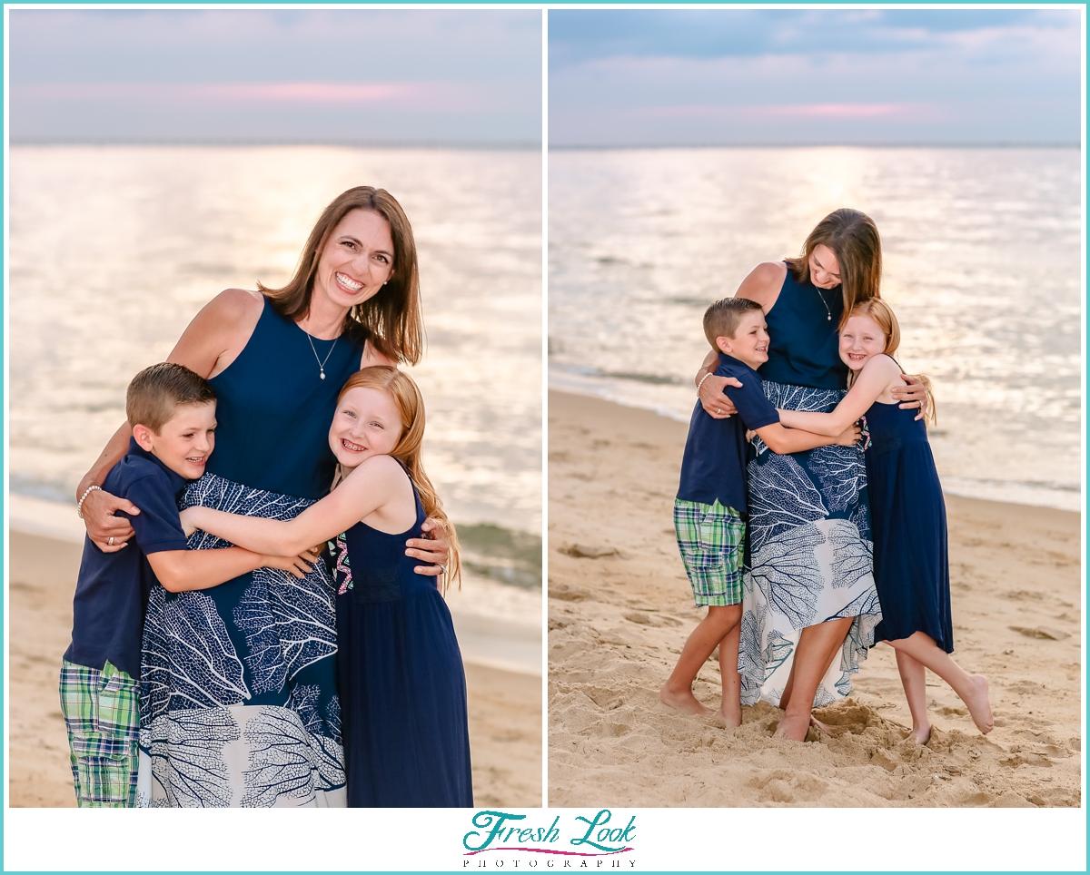 mommy and me photos on the beach