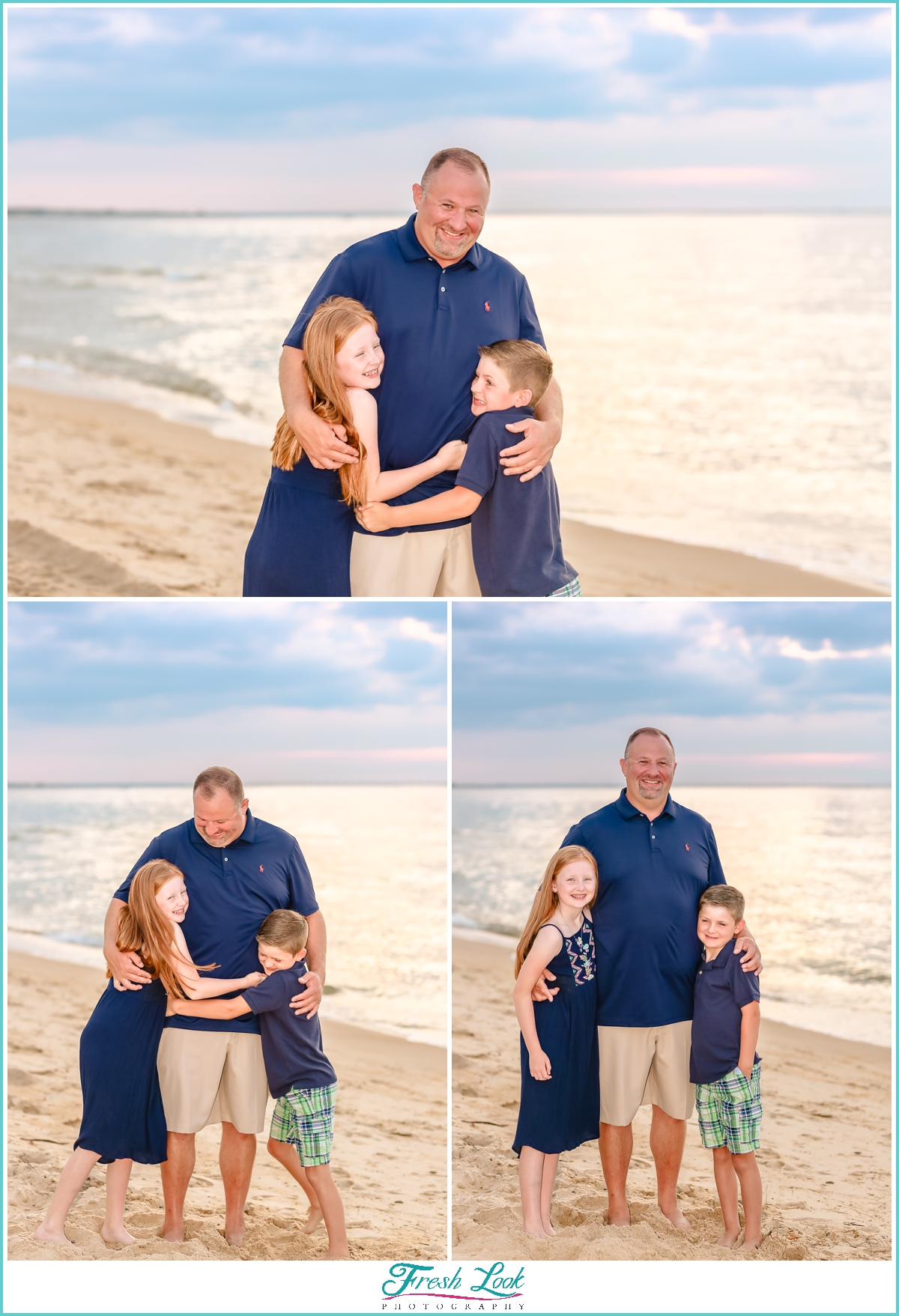 photos with dad on the beach