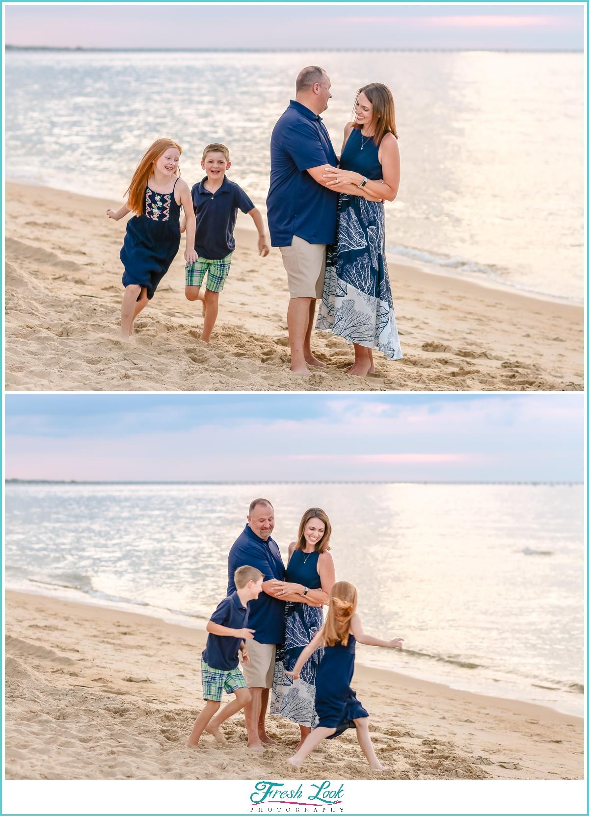 fun family photos in Virginia Beach