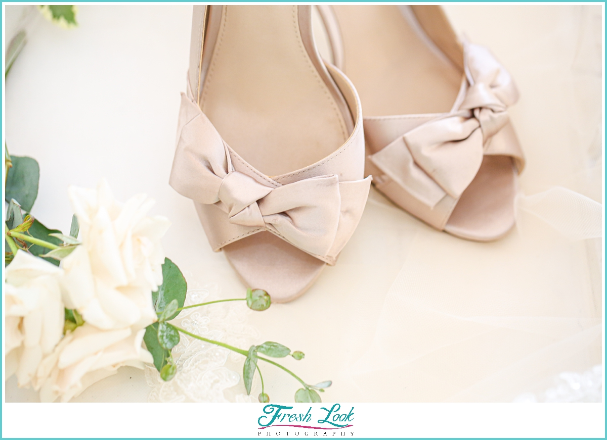 nude wedding shoes