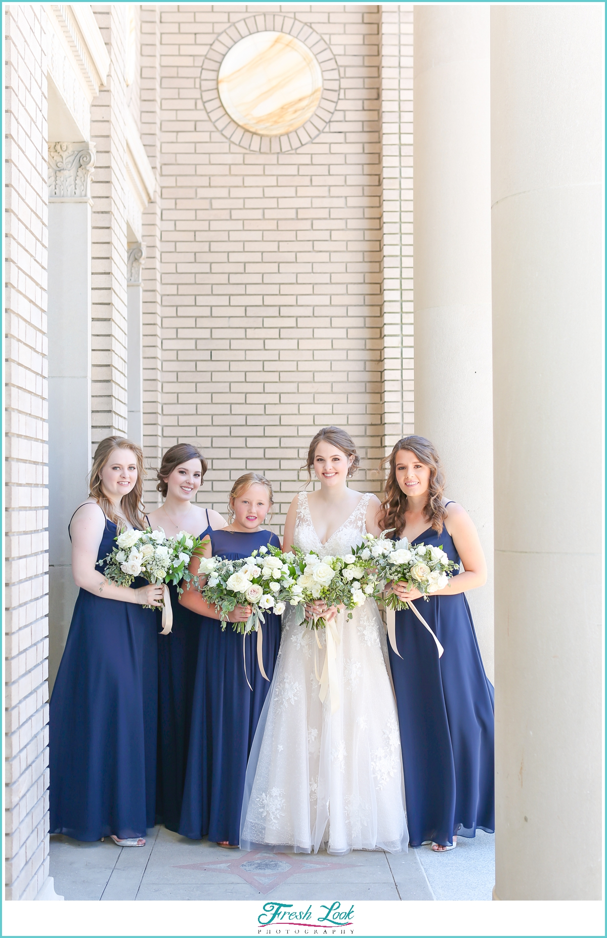 bride and bridesmaid at Historic Post Office Wedding
