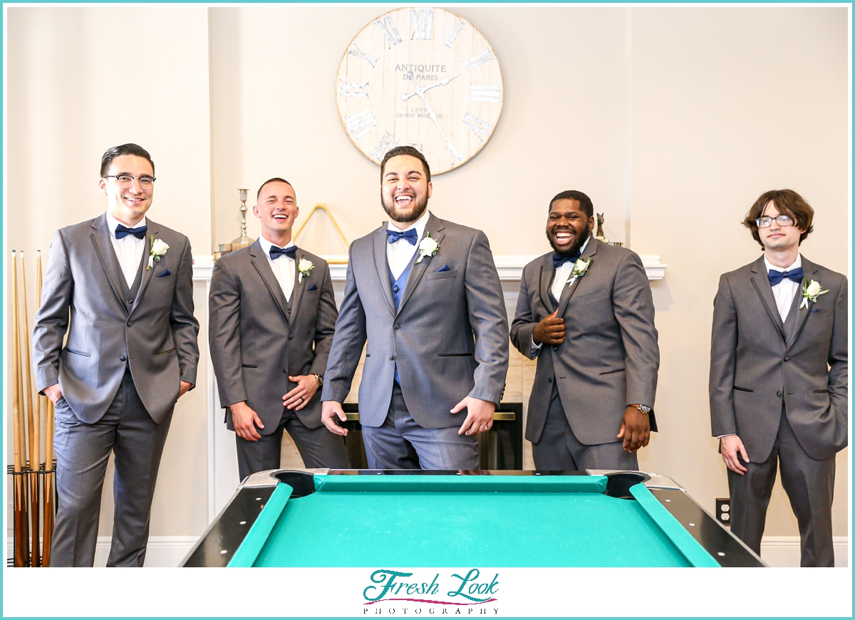 handsome groom and groomsmen portraits