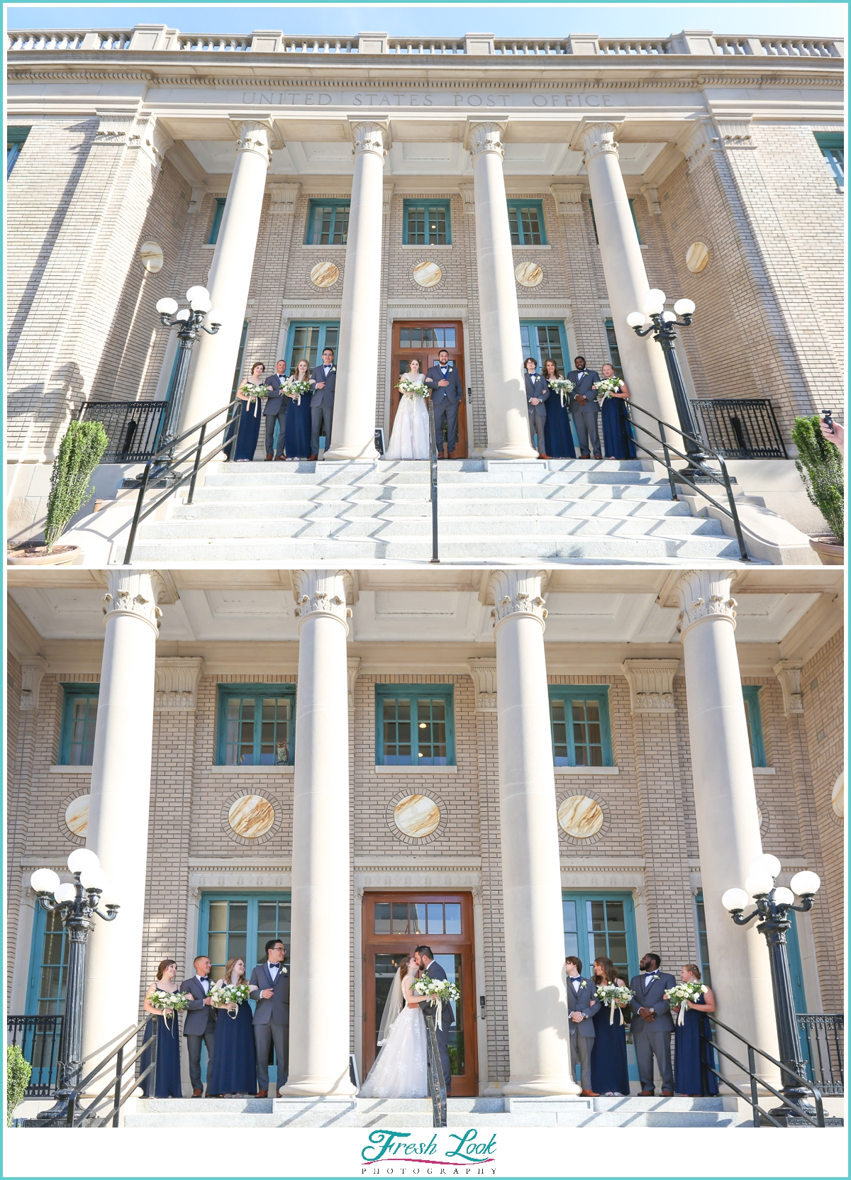 Historic Post Office wedding party photos