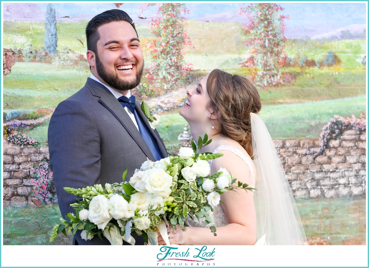silly bride and groom photos