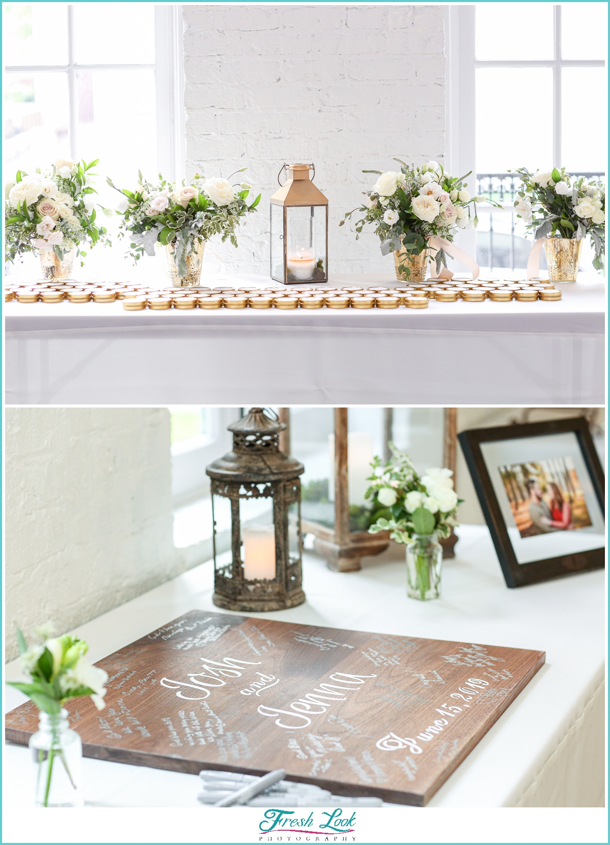 romantic spring wedding reception