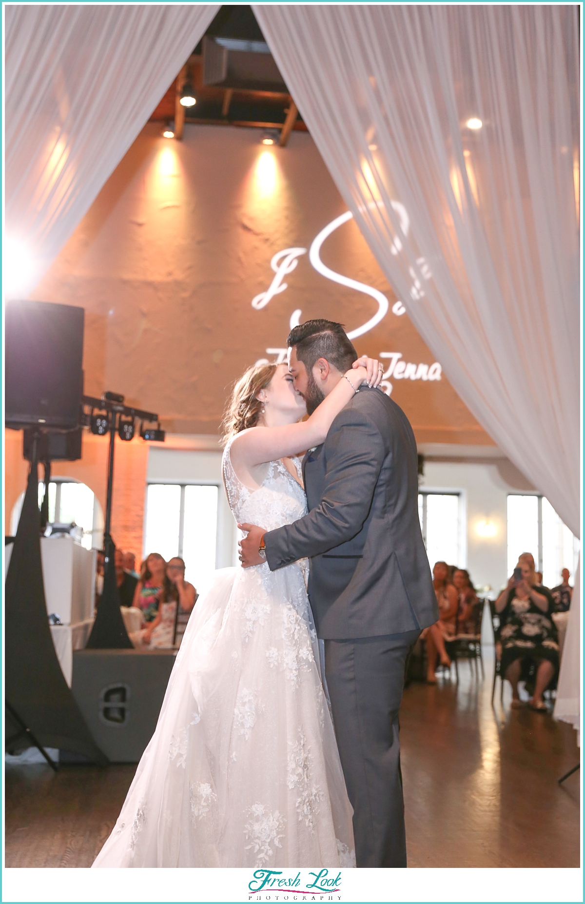 romantic first dance at the wedding