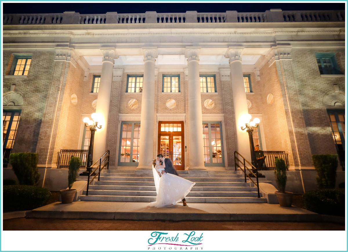 Historic Post Office bride and groom portraits