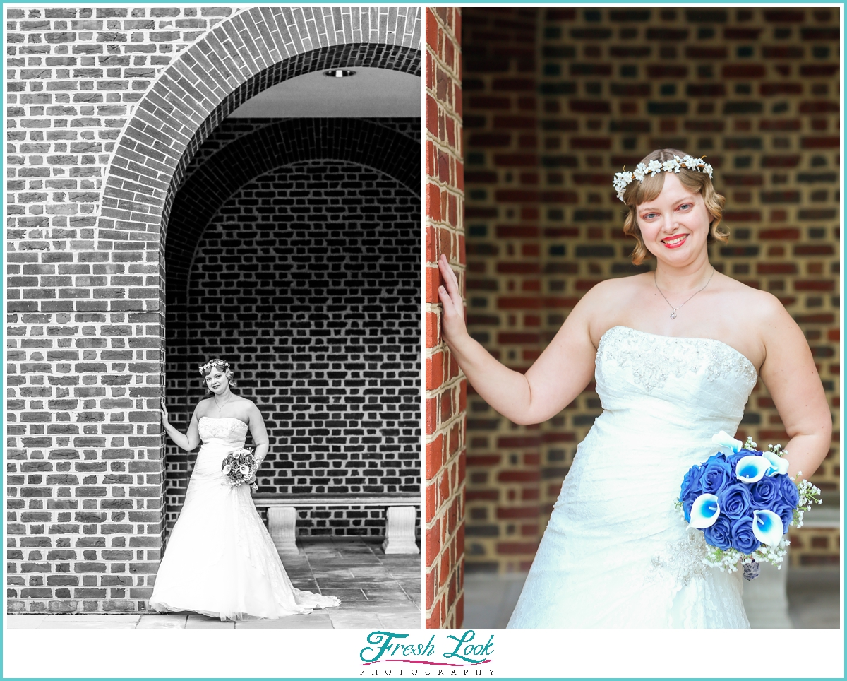 blue hour bridal photos