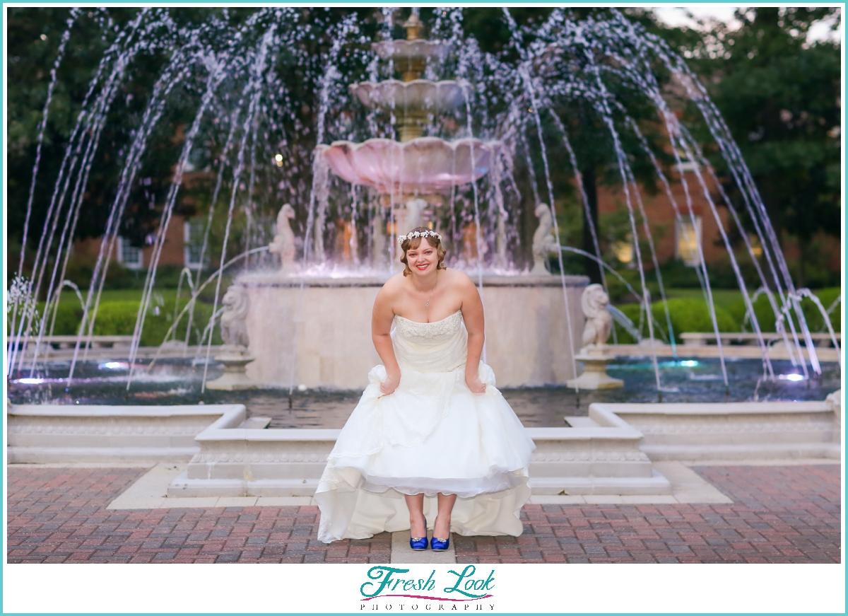 fun photos with the bride