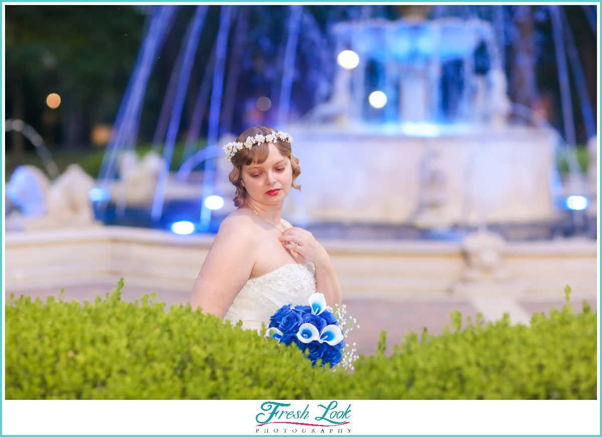 romantic bridal photos before the wedding