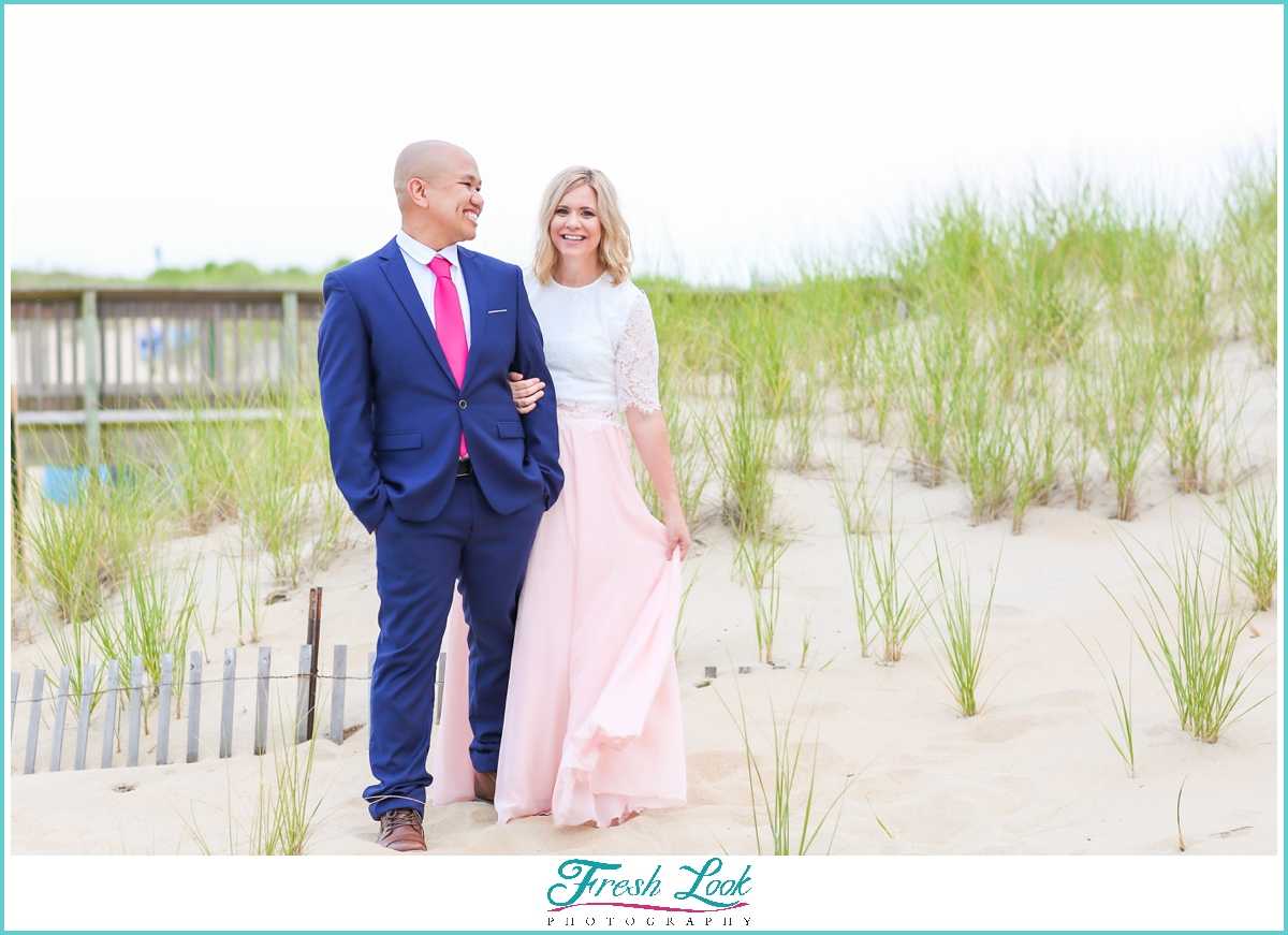 romantic engagement beach photos