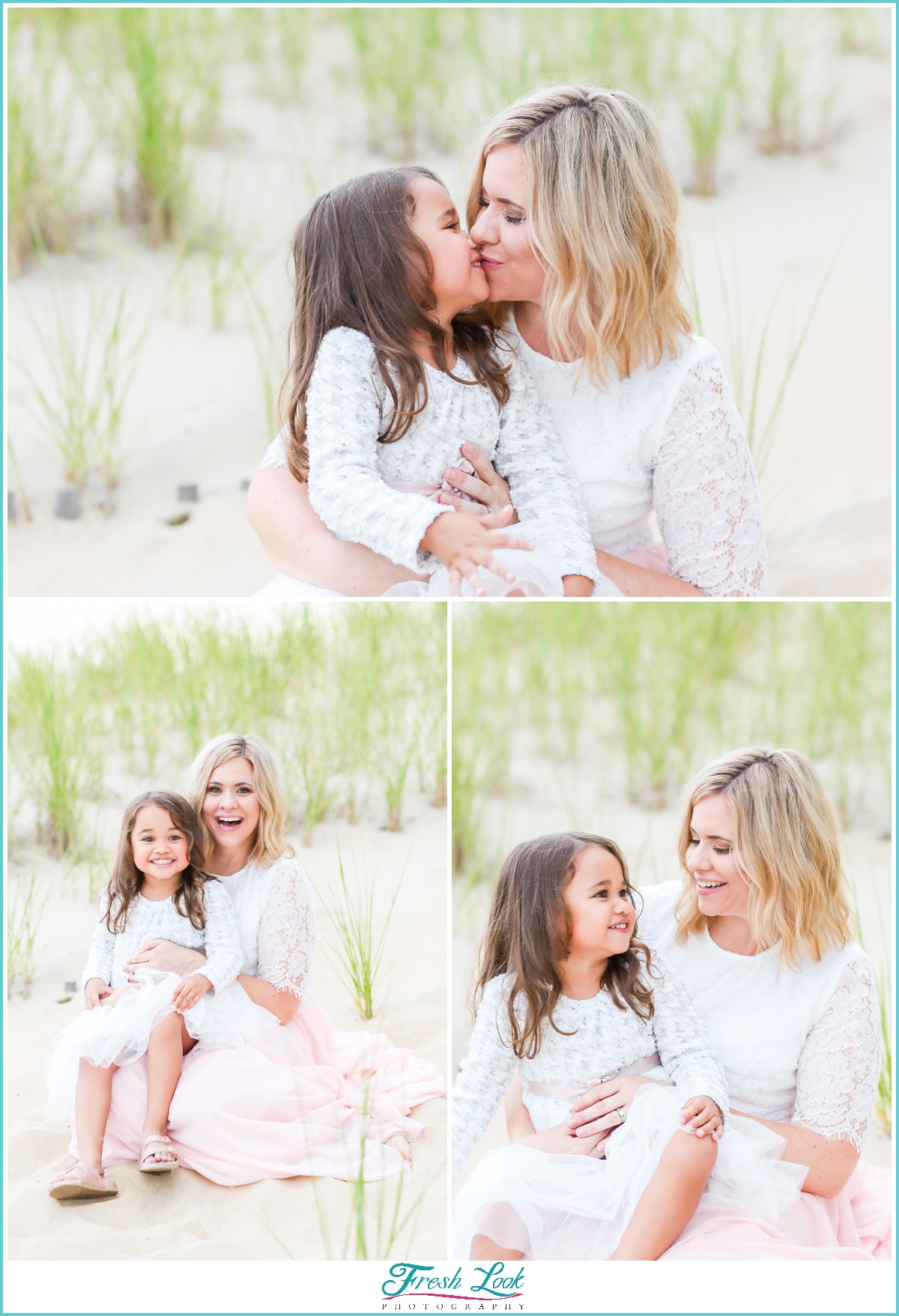 mother and daughter beach photos