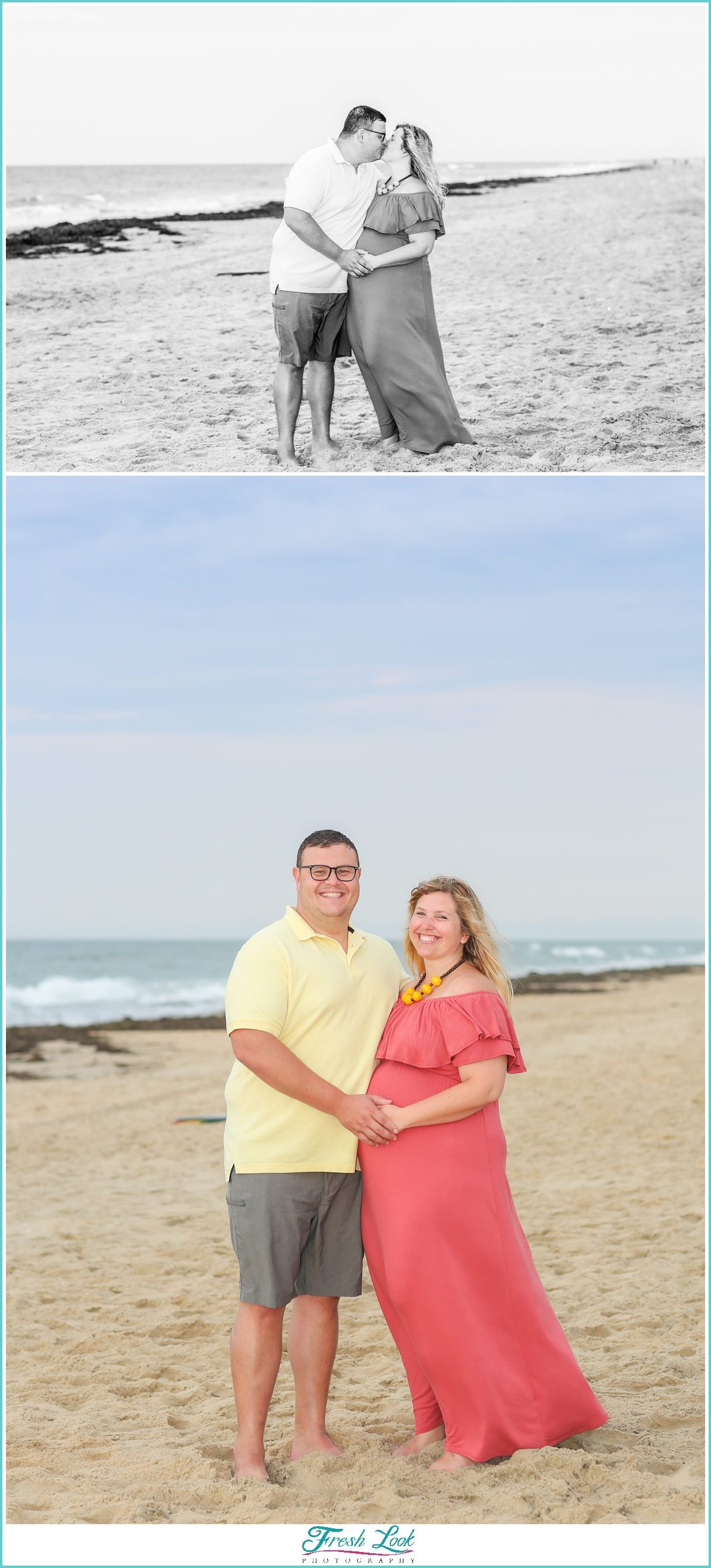 beach maternity photoshoot