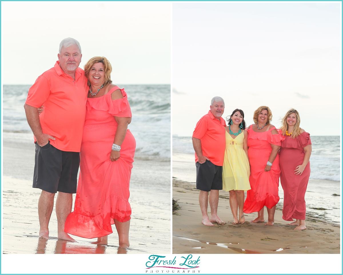extended family beach photoshoot
