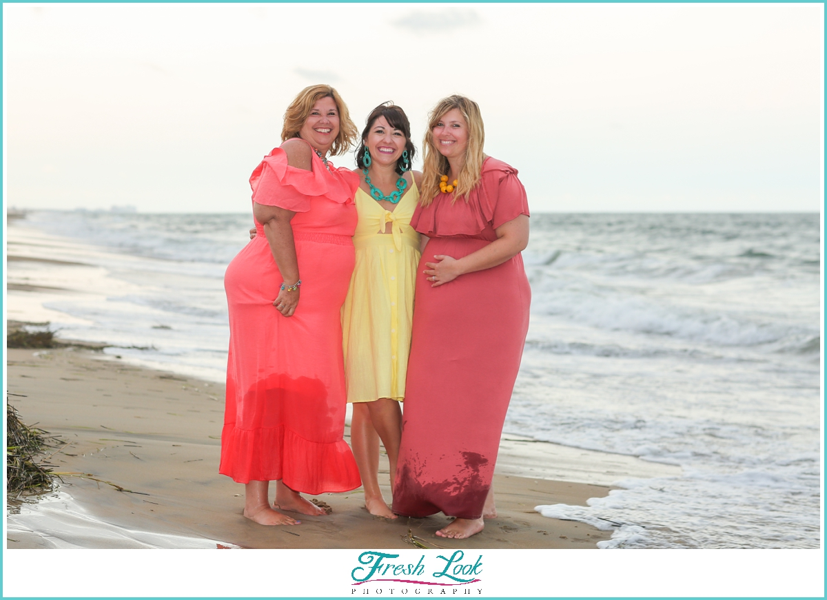 mother and daughter beach photoshoot
