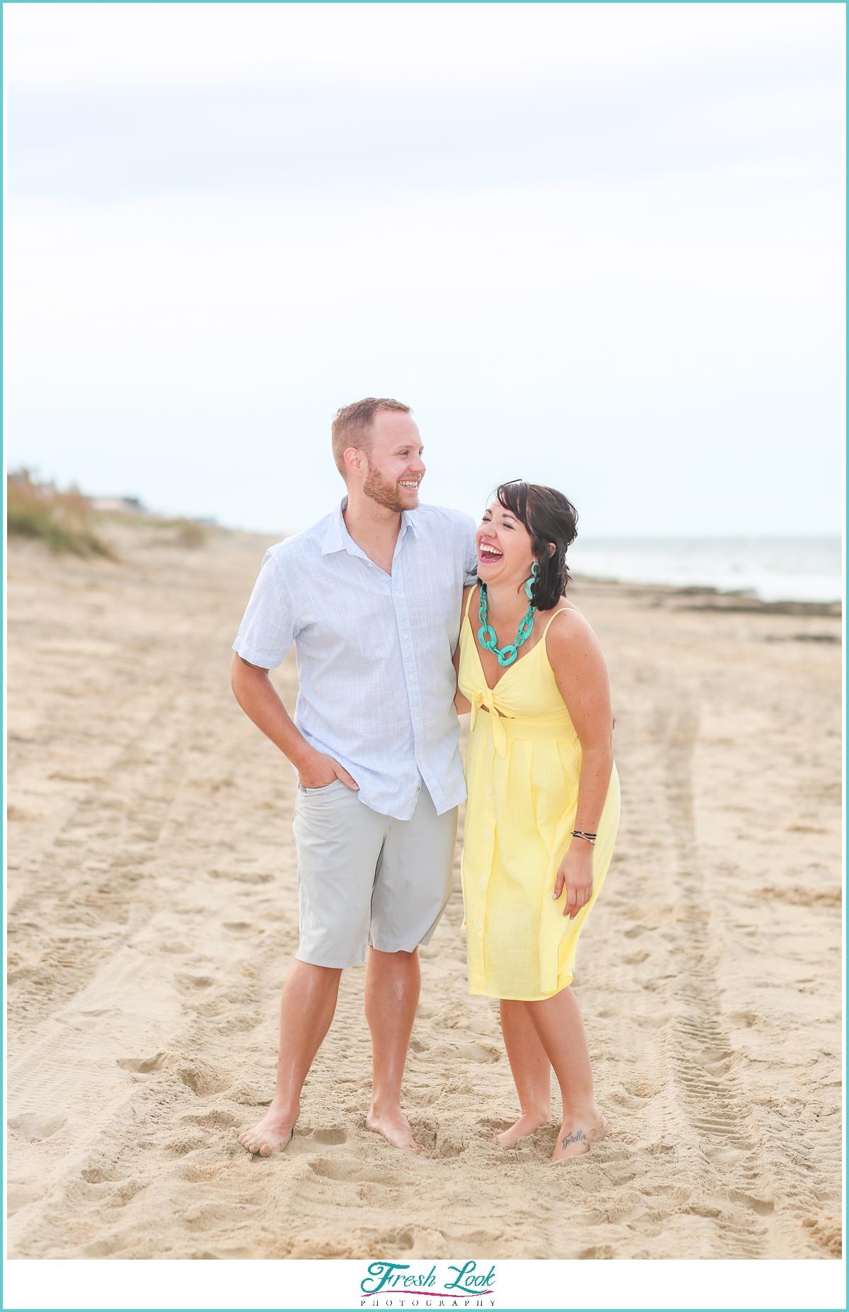 romantic sandbridge engagement photos