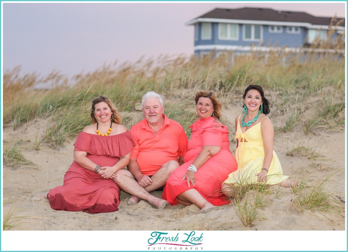 extended family Sandbridge photoshoot