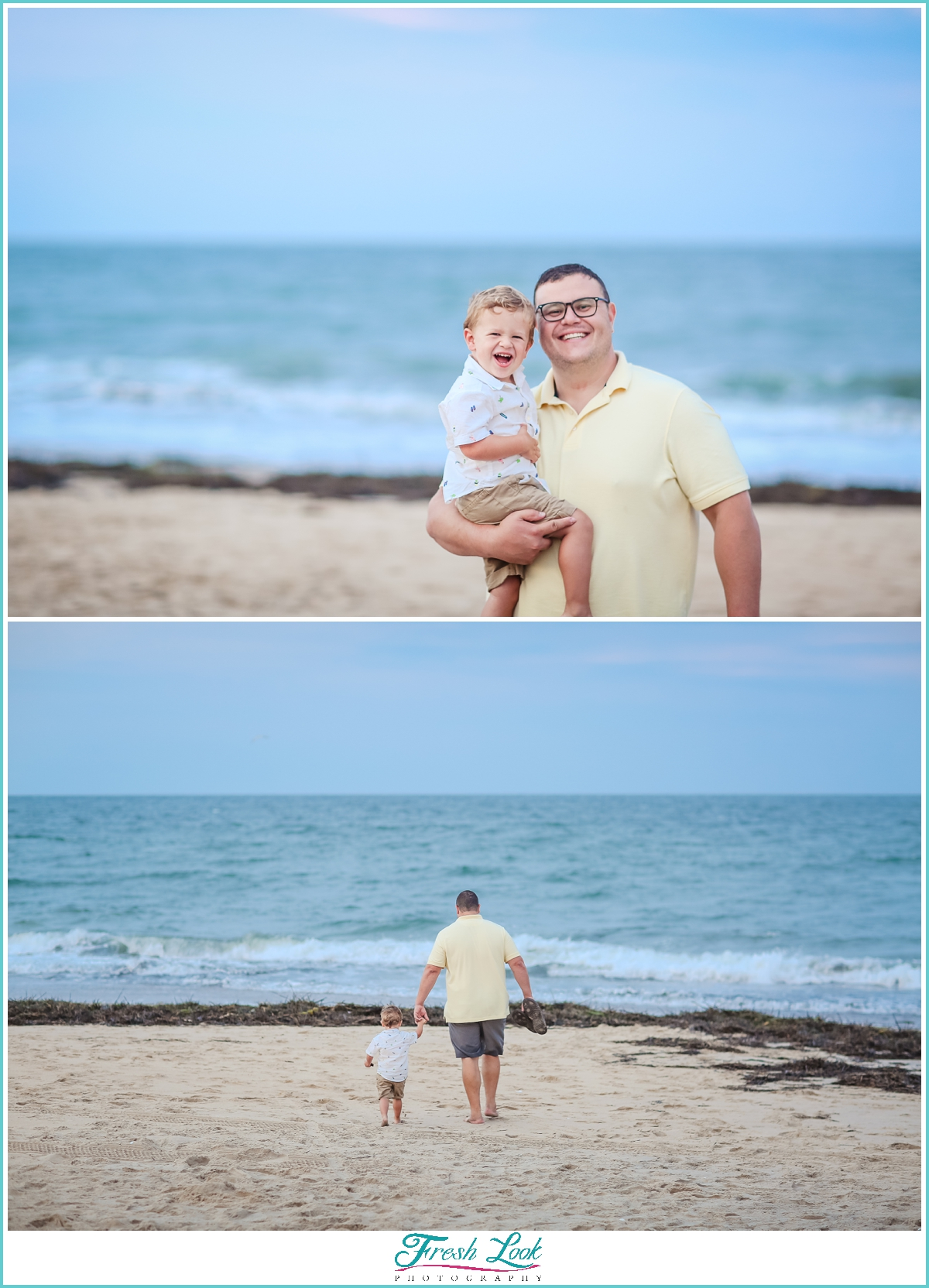 daddy and me photos on the beach