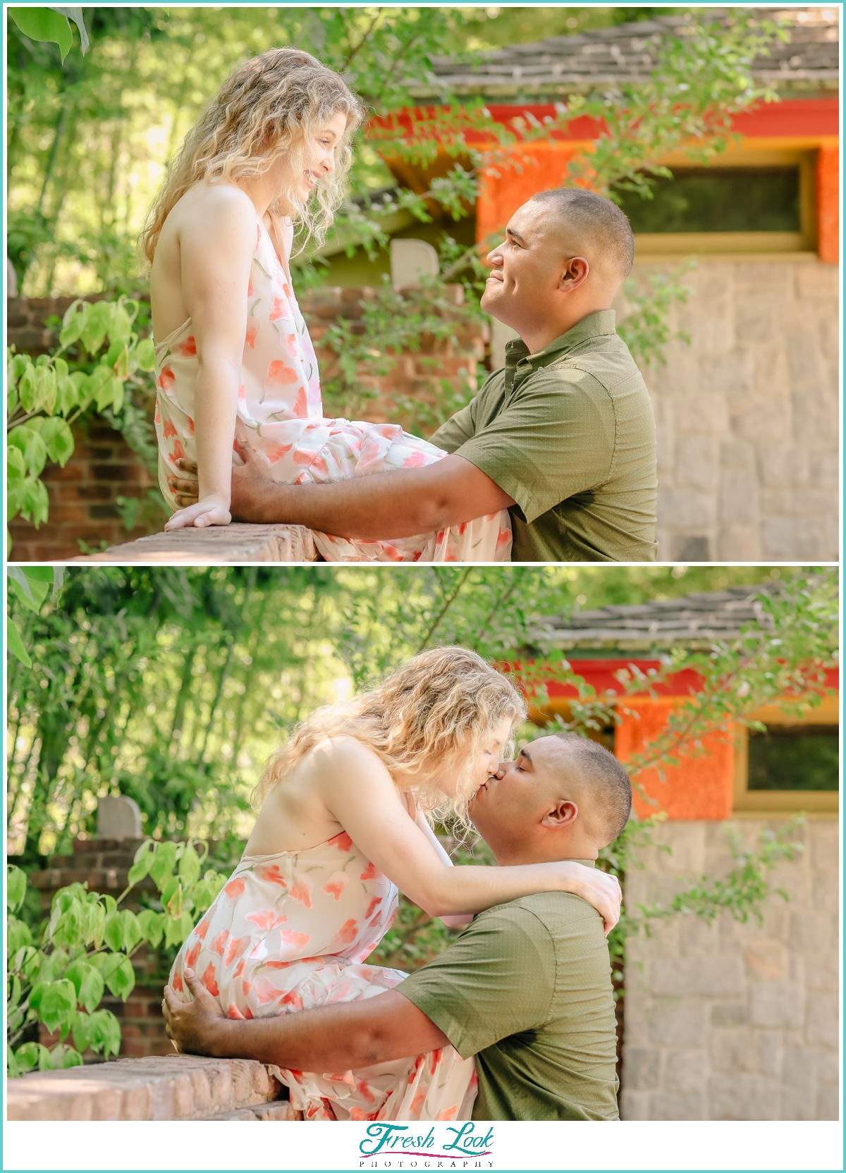 Engagement photos at Virginia Zoo