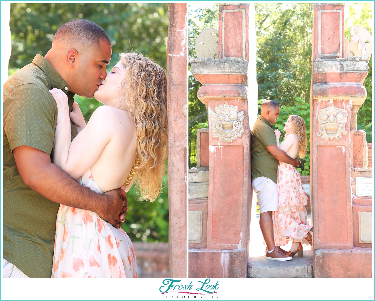 Engagement photoshoot at the zoo