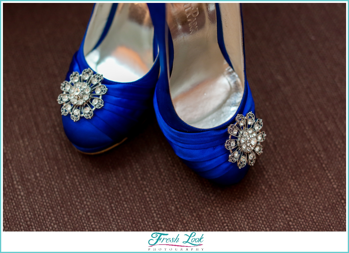 Blue weddings heels