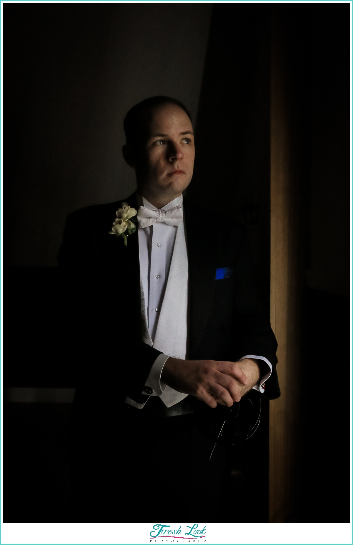 handsome groom portrait