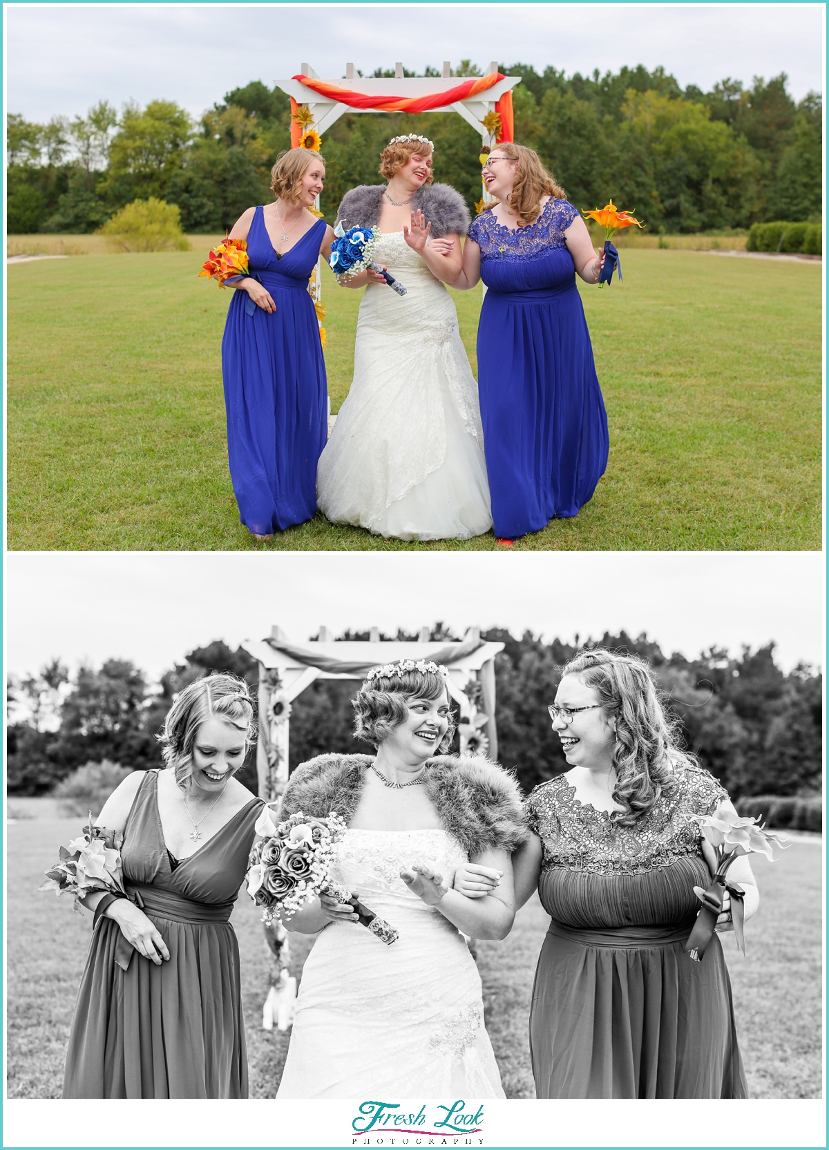 gorgeous bridesmaid portraits