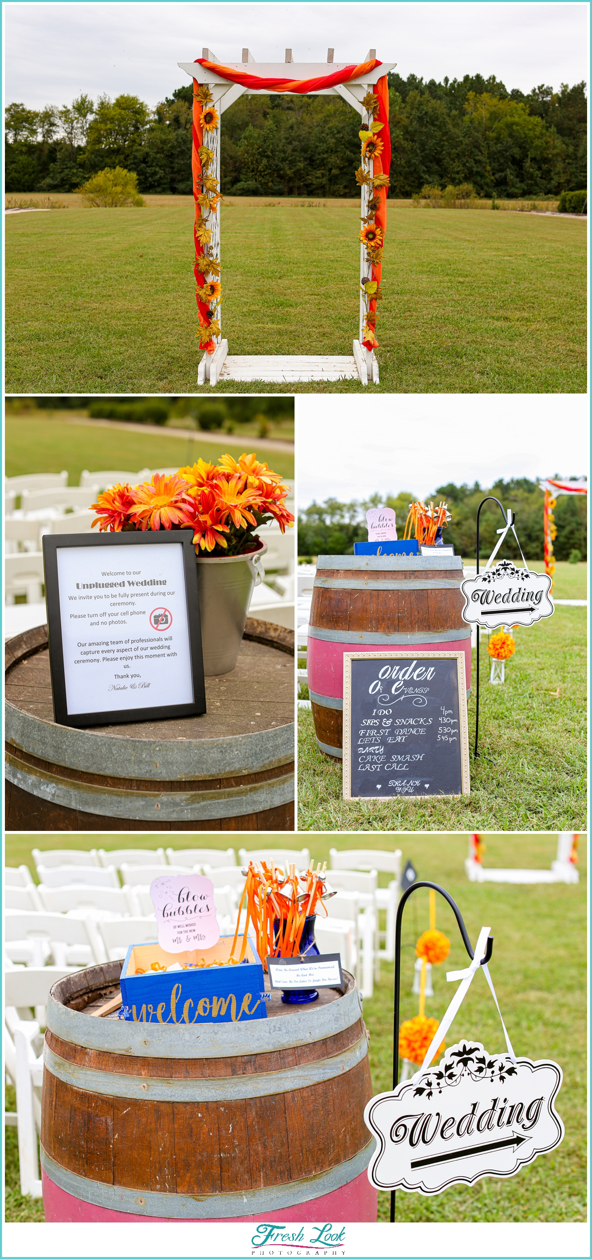 Williamsburg fall wedding