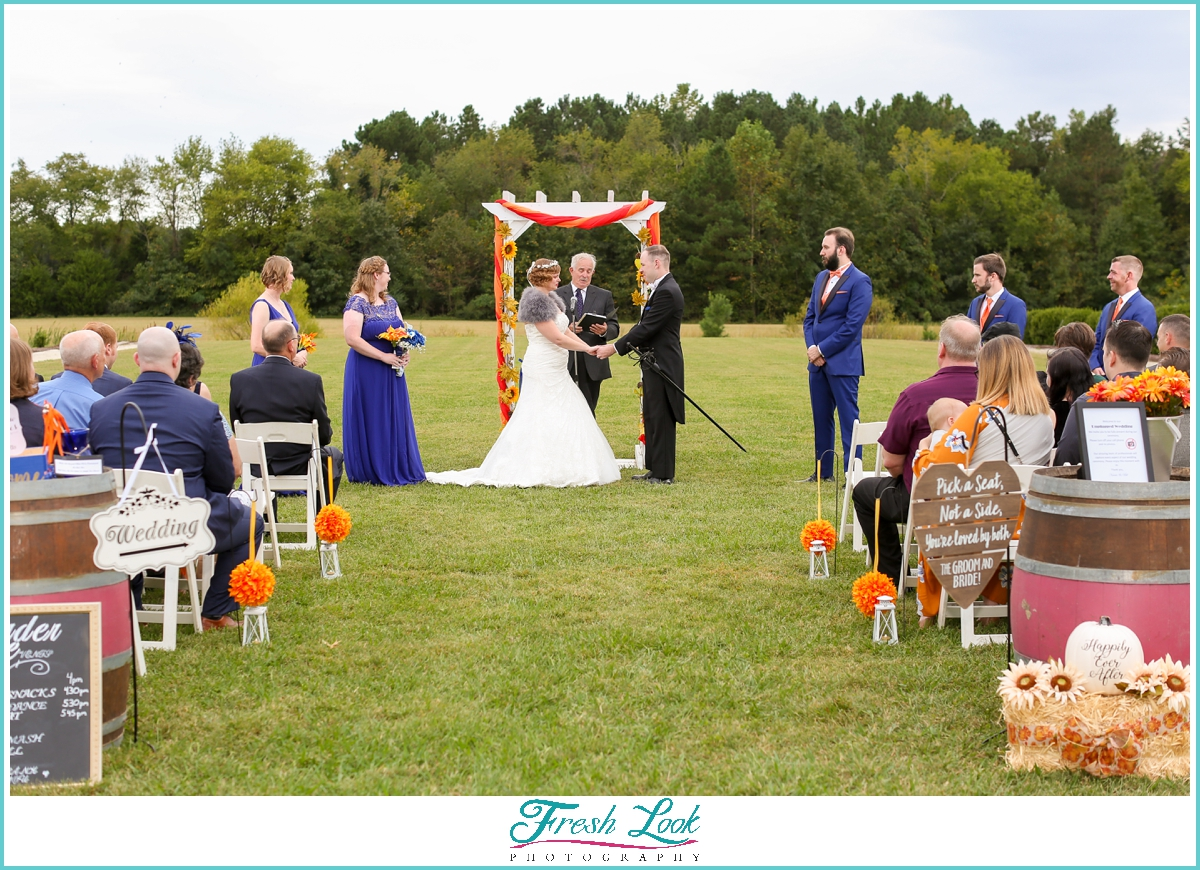outdoor wedding at Williamsburg wedding