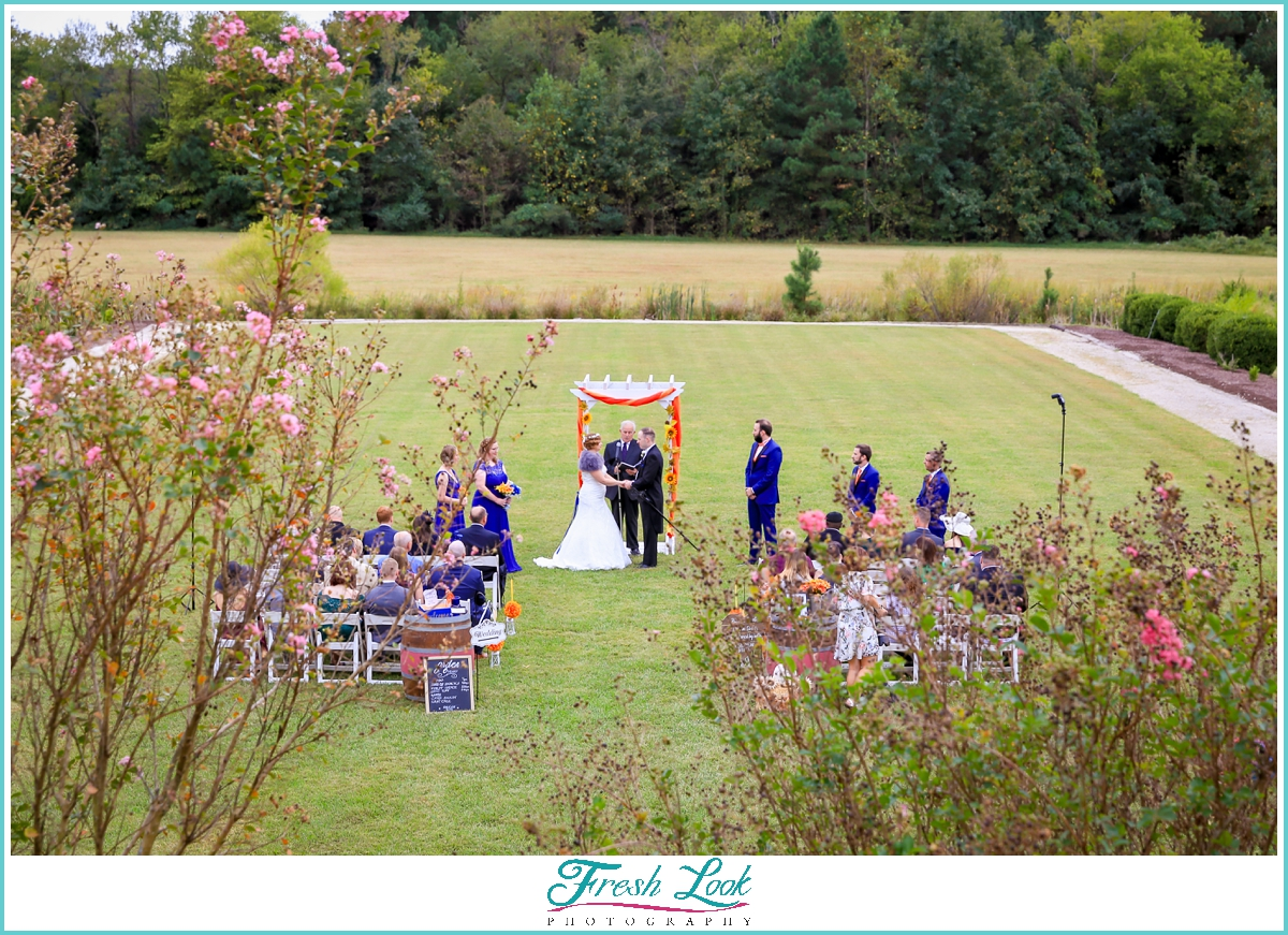 Williamsburg Winery outdoor wedding