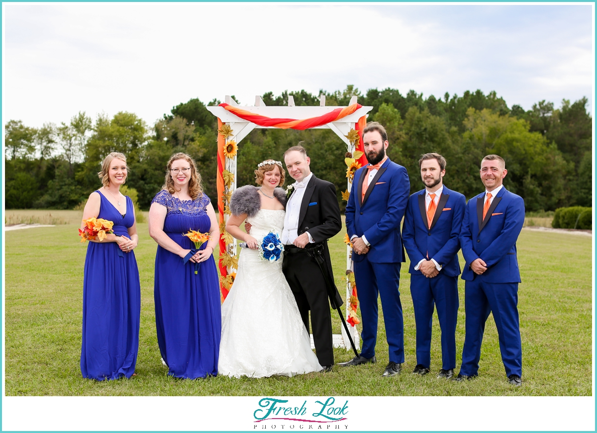 Williamsburg Winery bridal party