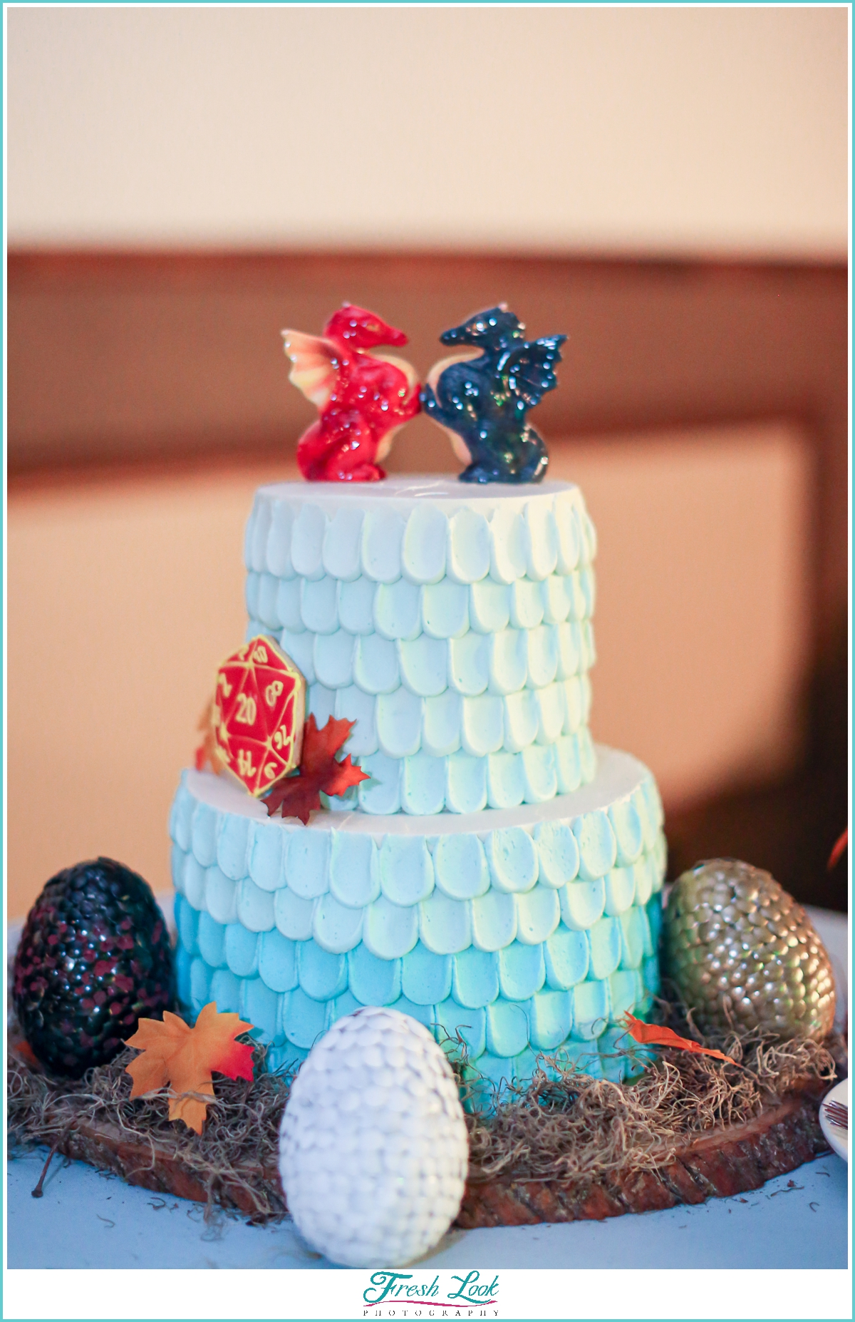 Epic dragon wedding cake
