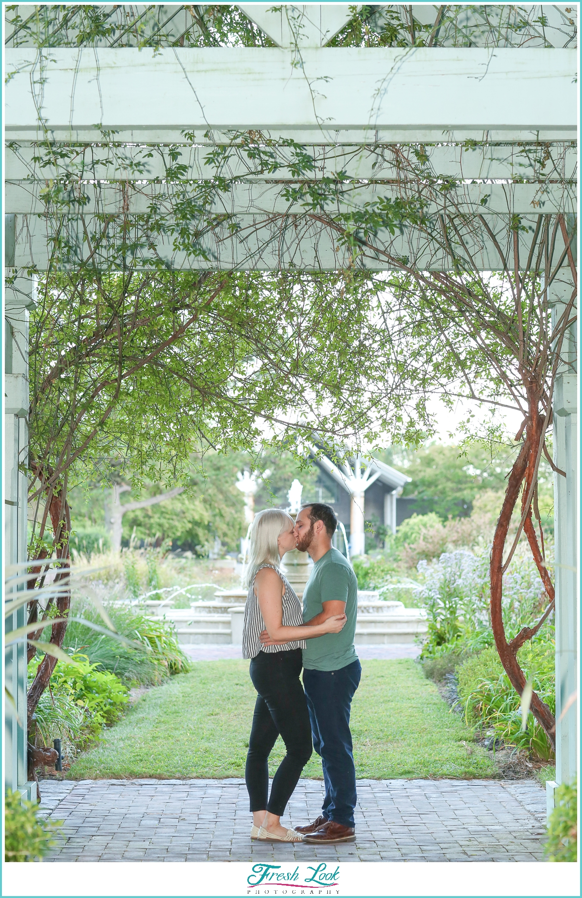 engagement session in the garden