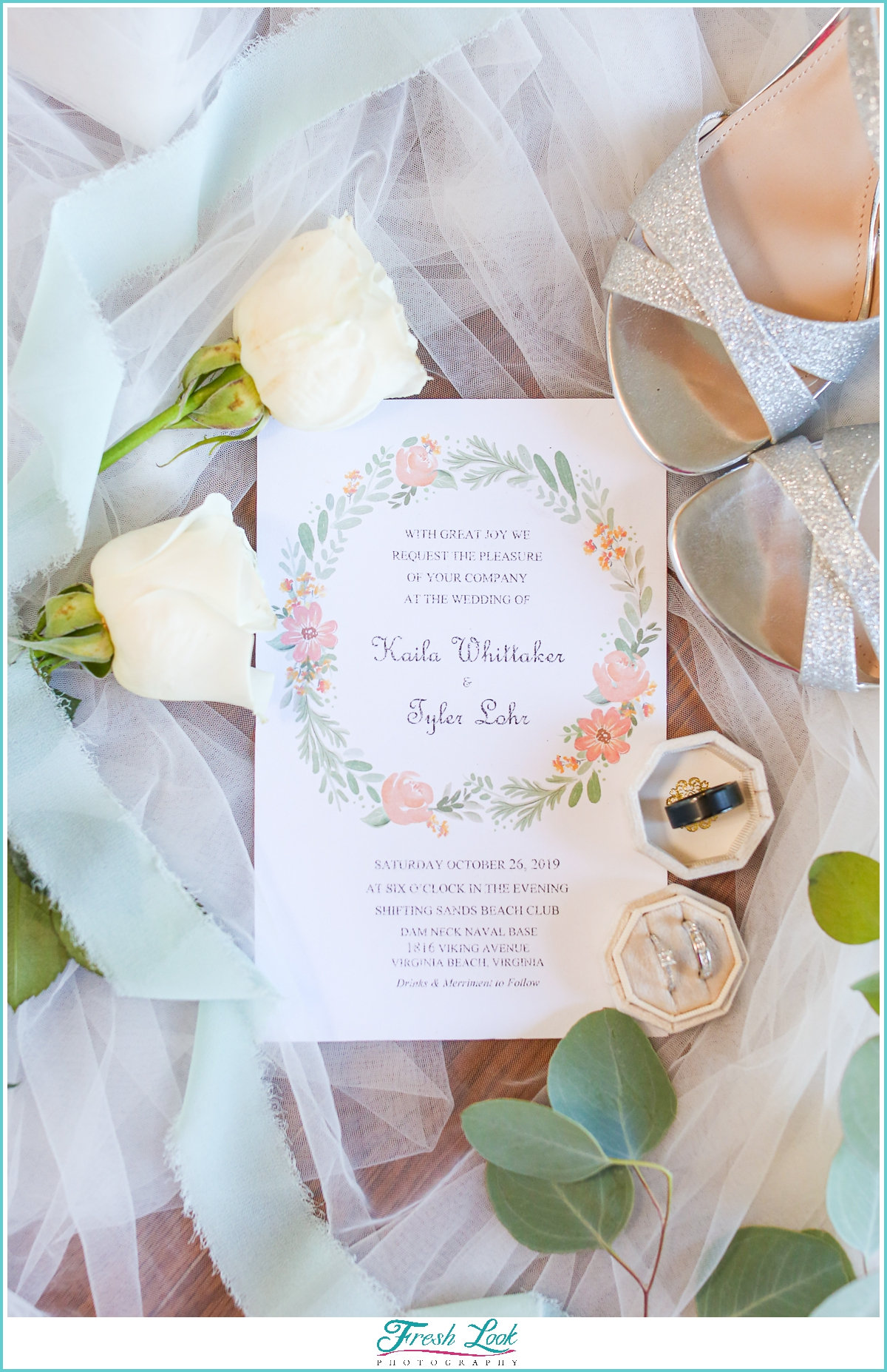 sage and blush wedding invitation