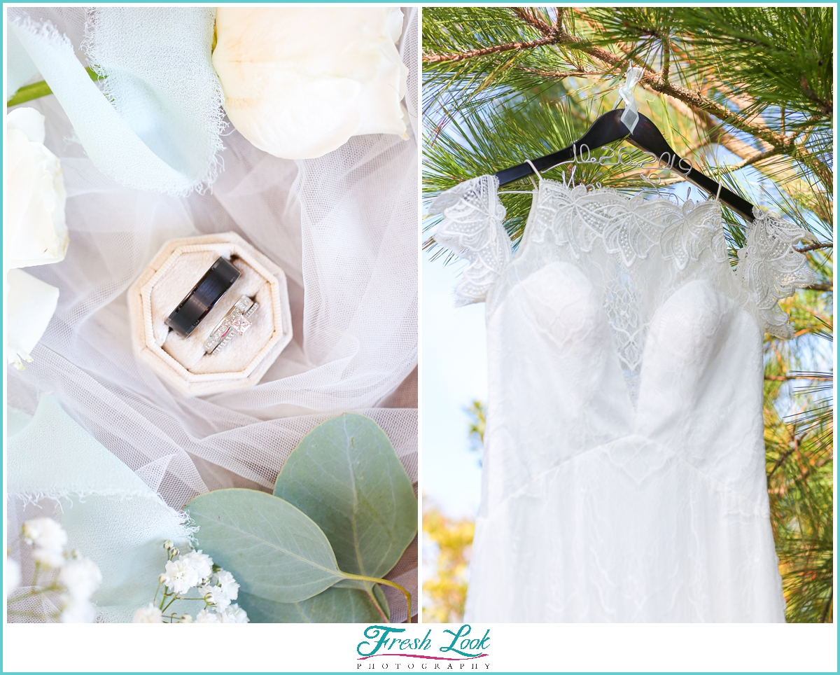 wedding details here and now bridal gown