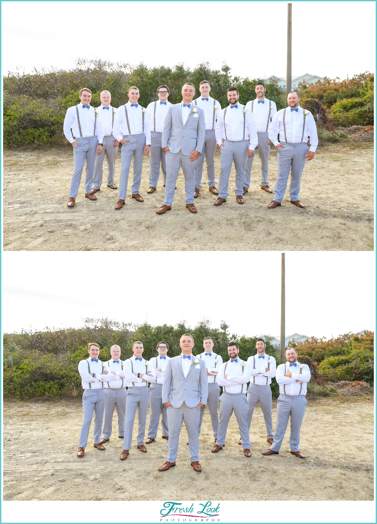 groom and groomsmen posing ideas