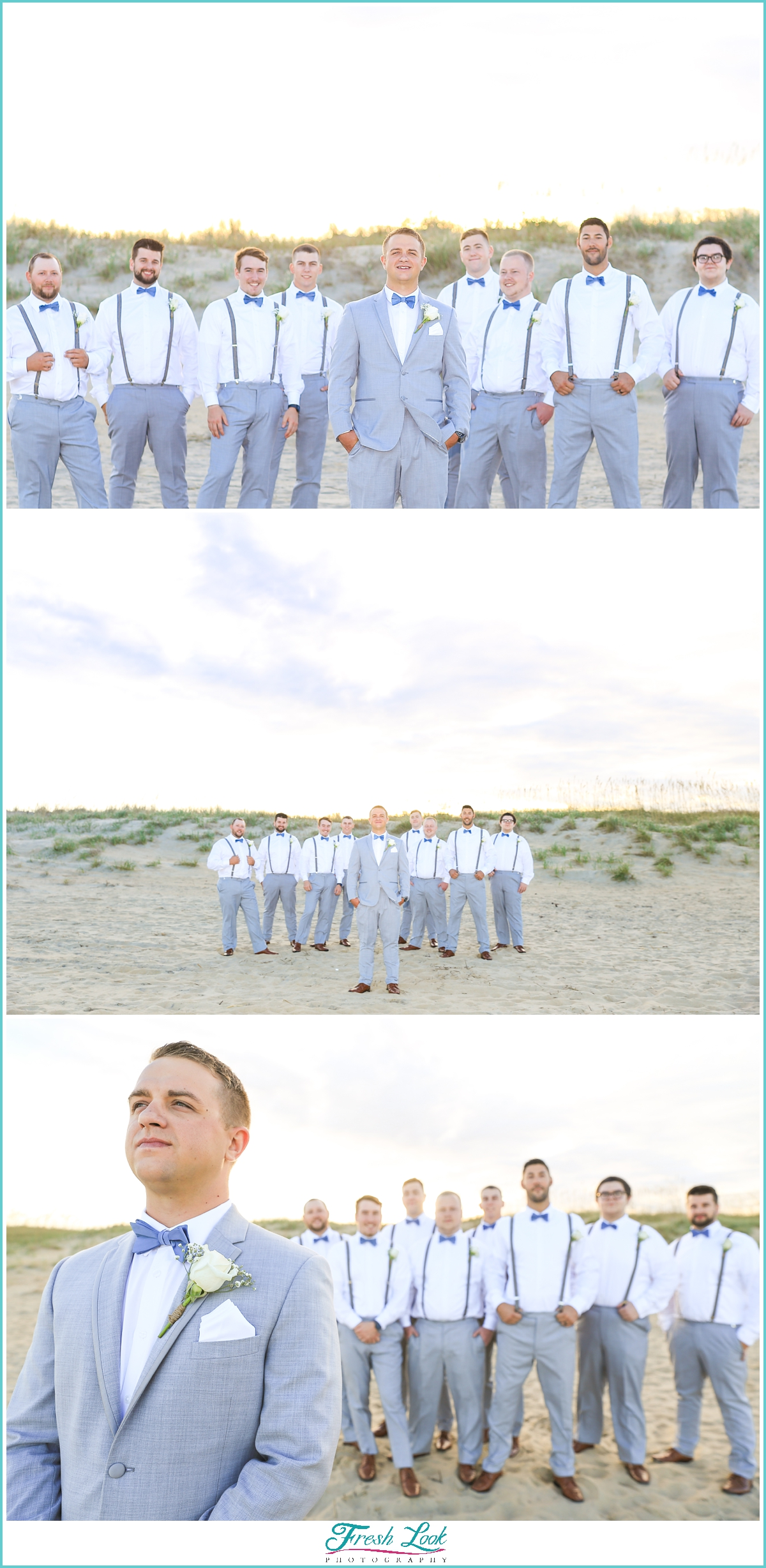 handsome groom and groomsmen