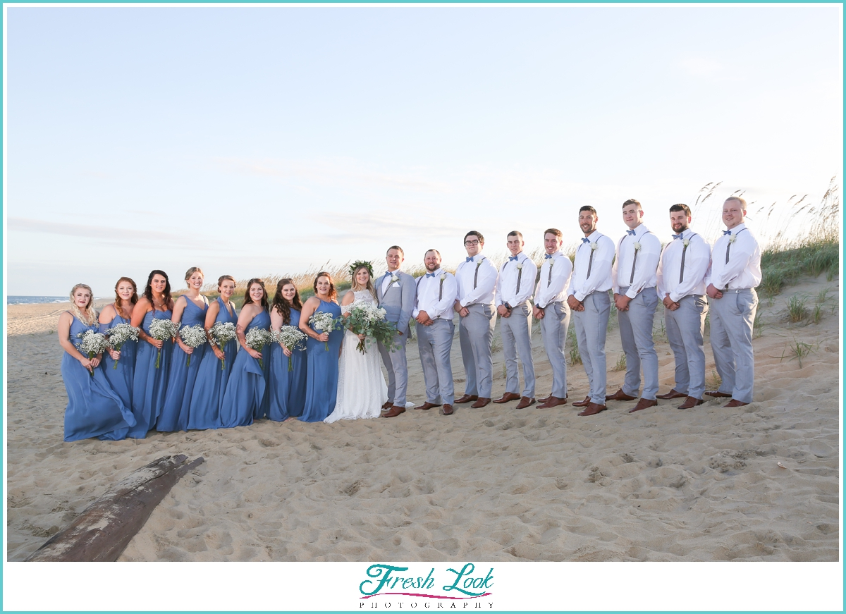 blue and gray wedding party colors
