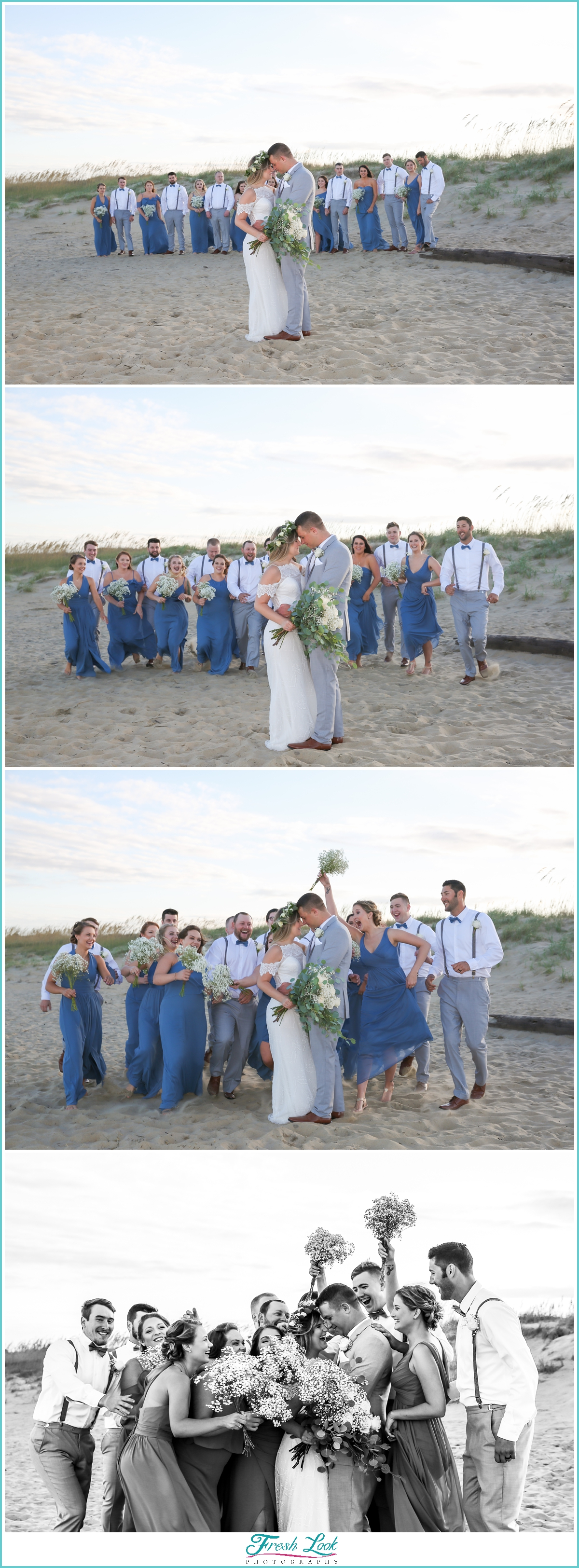 epic fun bridal party photos