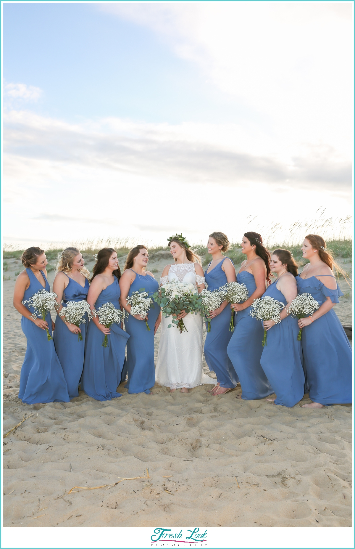 beach bridesmaid photos