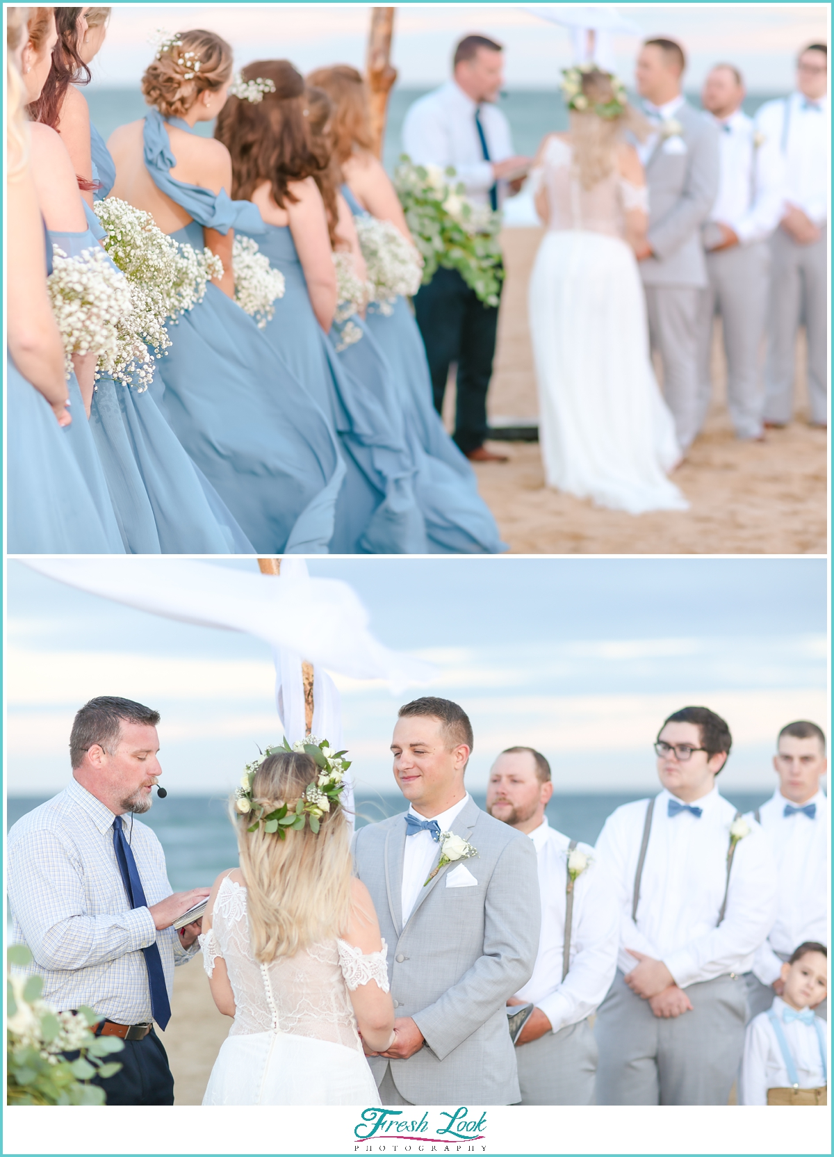 beach wedding detail photos