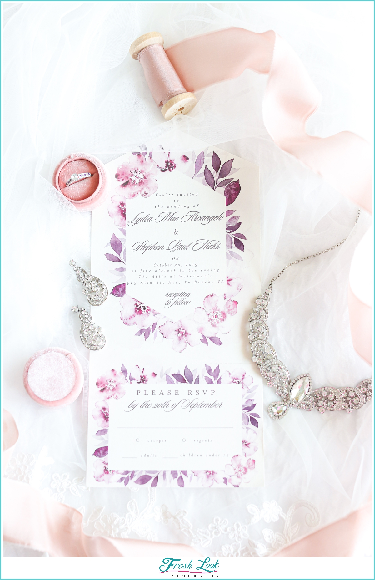 wedding stationery details shot