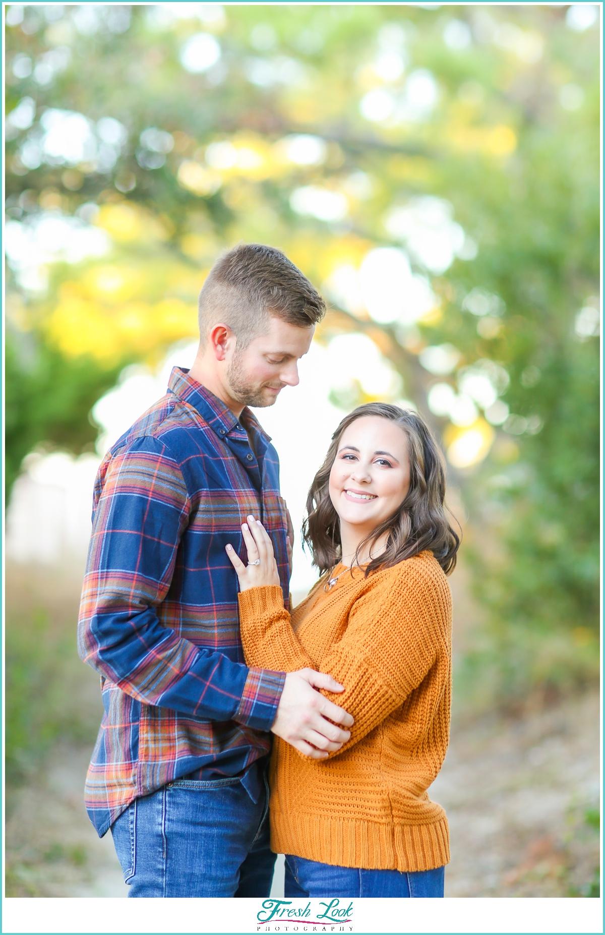 fall engagement photoshoot