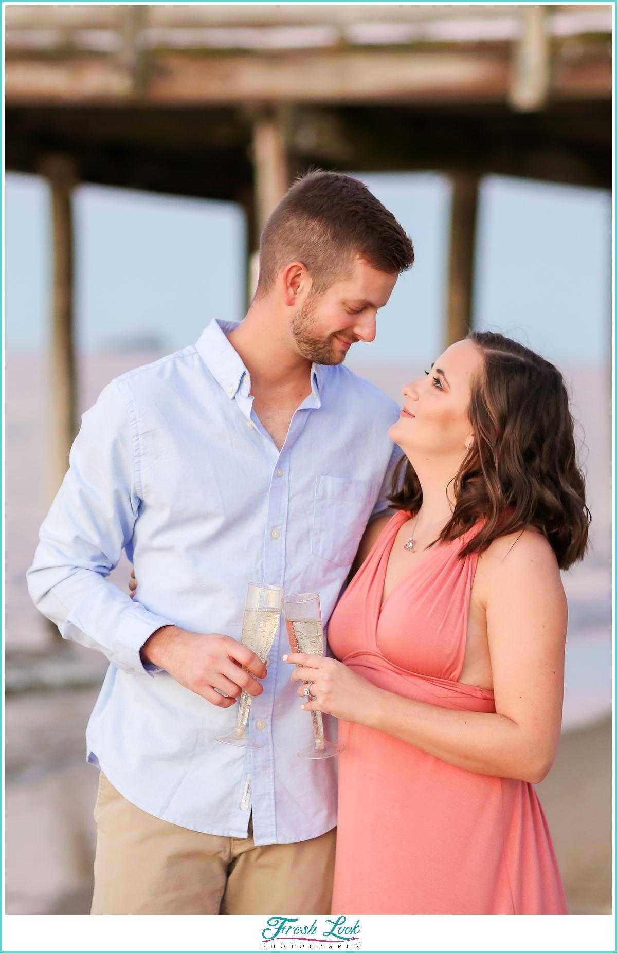 couples photoshoot on the beach