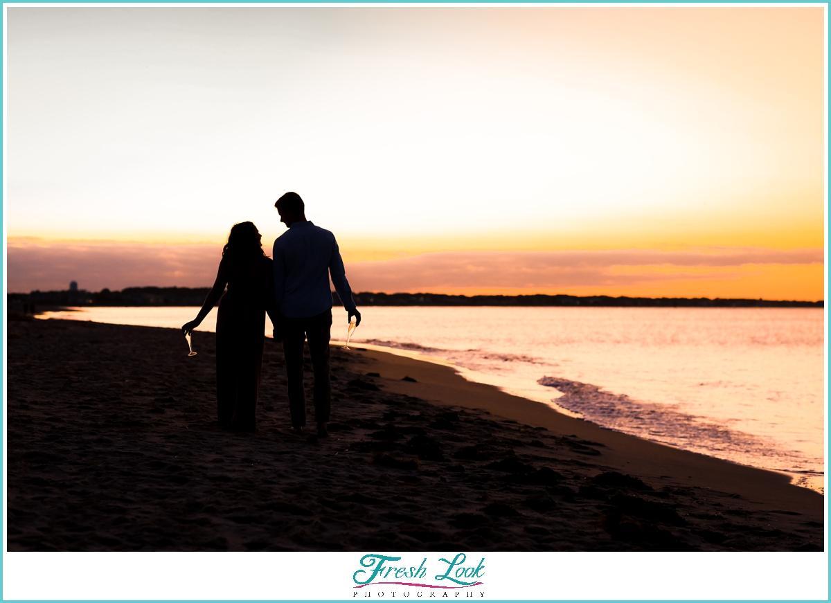 sunset on the beach photos
