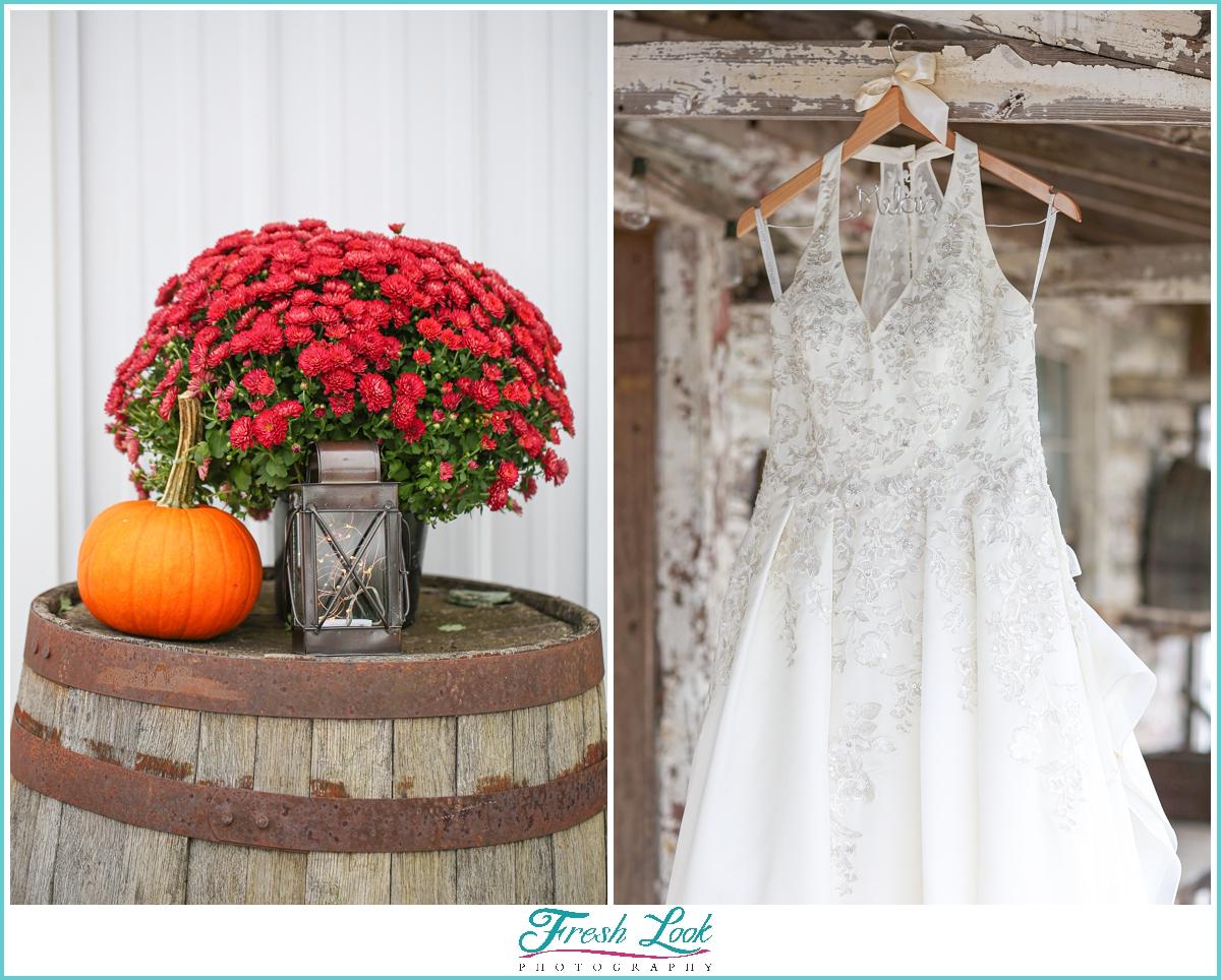 fall lace wedding dress