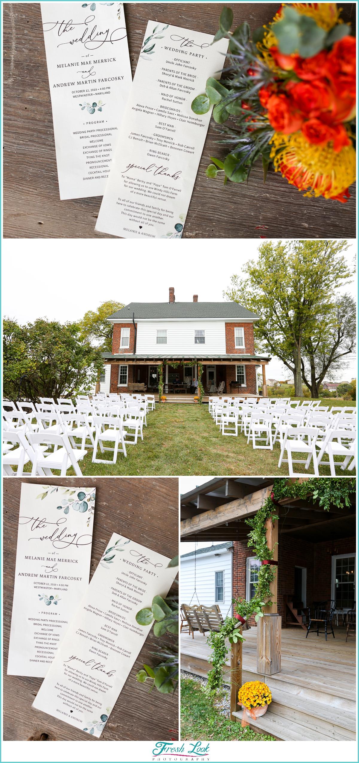 Maryland farm wedding ceremony