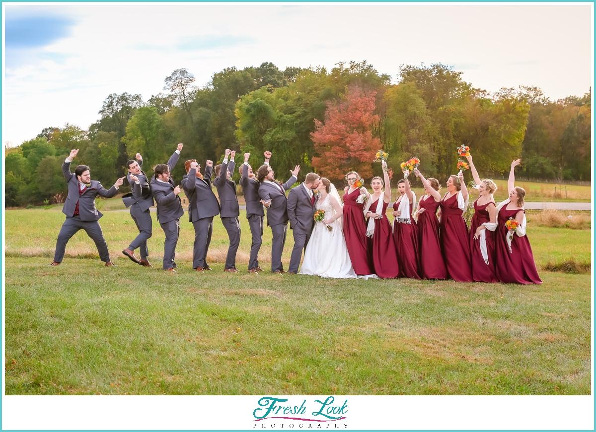 epic bridal party photos