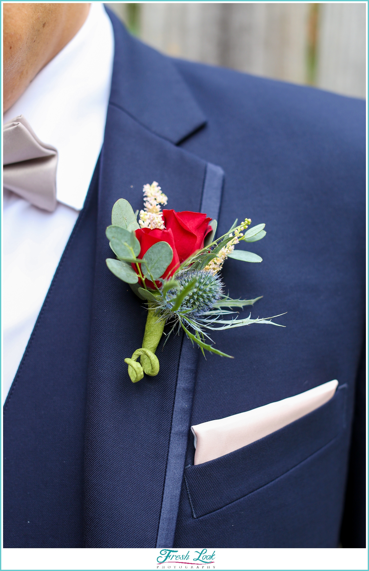 groom rose boutonniere