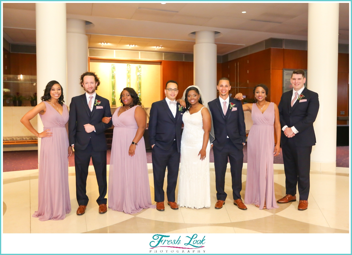 bridal party pose ideas
